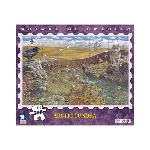 Briarpatch USPS Nature America - Arctic Tundra Stamp Collection Puzzle: 500 Pcs