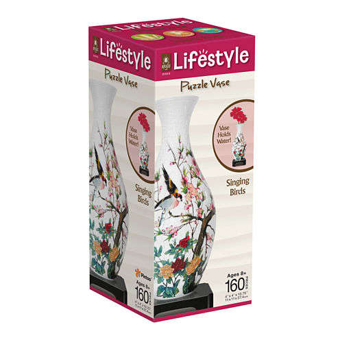BePuzzled Lifestyle 3D Puzzle Vase - Singing Birds: 160 Pcs
