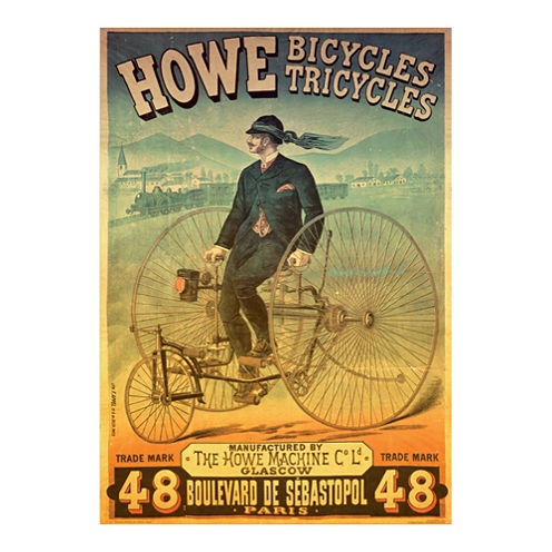 D-Toys Howe Bicycles - Vintage Poster Jigsaw Puzzle: 1000 Pcs