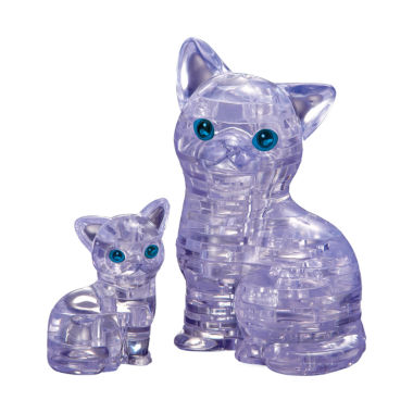jcpenney.com | 3D Crystal Puzzle - Cat with Kitten: 49 Pcs