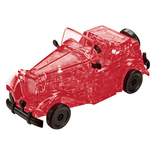 BePuzzled 3D Crystal Puzzle - Classic Car (Red): 53 Pcs
