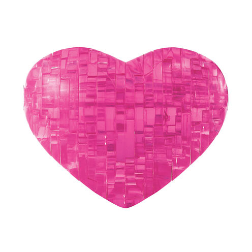 BePuzzled 3D Crystal Puzzle - Heart (Pink): 45 Pcs