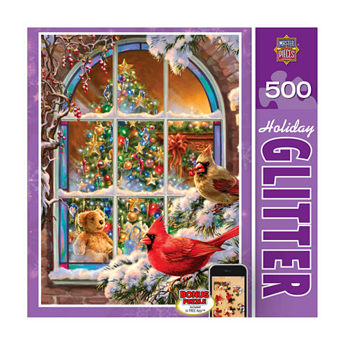 Masterpieces Puzzles Holiday Glitter Puzzle - Homefor the Holidays: 500 Pcs