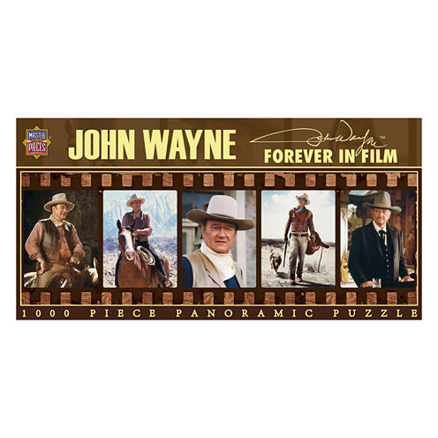 Masterpieces Puzzles John Wayne - Forever in FilmPanoramic Puzzle: 1000 Pcs