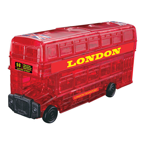 BePuzzled 3D Crystal Puzzle - London Bus (Red): 53Pcs
