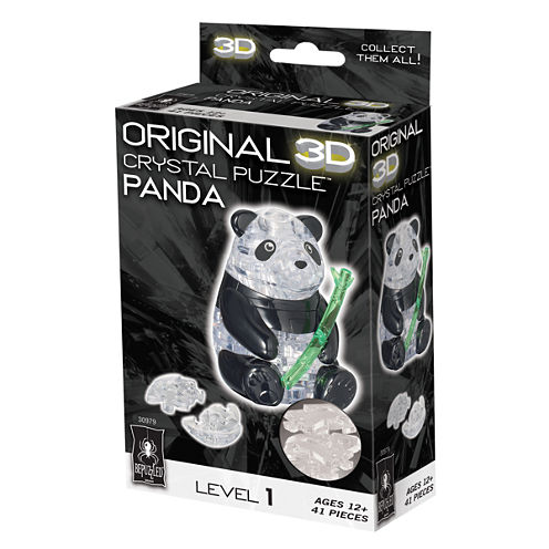 BePuzzled 3D Crystal Puzzle - Panda: 41 Pcs
