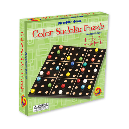 MegaFun USA Color Sudoku Puzzle - Wood Marble Game