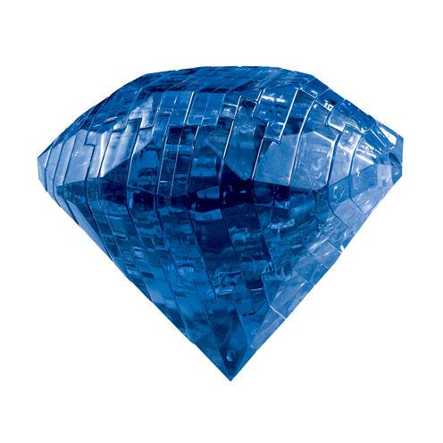 BePuzzled 3D Crystal Puzzle - Sapphire - Gem: 41 Pcs