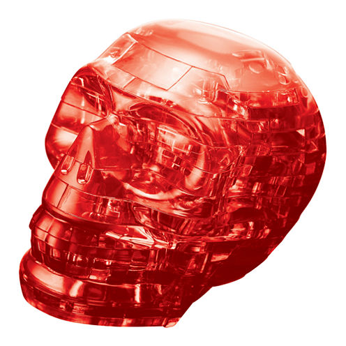 BePuzzled 3D Crystal Puzzle - Skull (Red): 48 Pcs