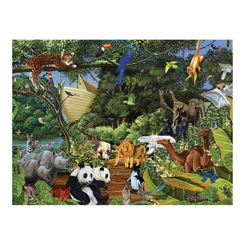 Outset Media Family Varying Piece Size Puzzle - Noah's Gathering: 400 Pcs