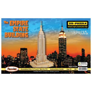 jcpenney.com | The Empire State Building Natural Wood Puzzle