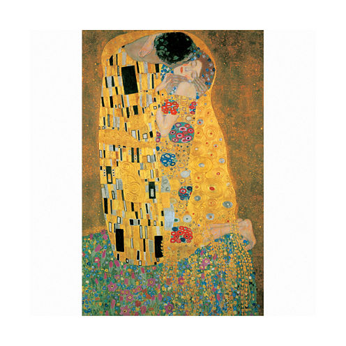 Piatnik Klimt The Kiss Metallic Jigsaw Puzzle: 1000 Pcs