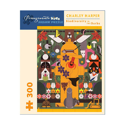 Pomegranate Communications Inc. Charley Harper - Biodiversity in the Burbs Puzzle: 300 Pcs