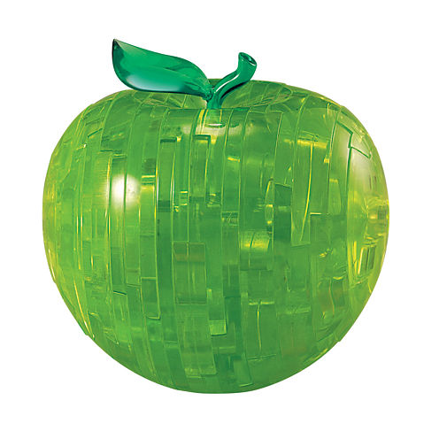 BePuzzled 3D Crystal Puzzle - Apple (Green): 44 Pcs