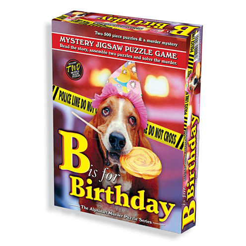 TDC Games B is for Birthday Murder Mystery JigsawPuzzle: 1000 Pcs