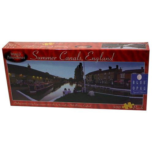 Blue Opal World Panoramas - Summer Canals; EnglandPuzzle: 500 Pcs