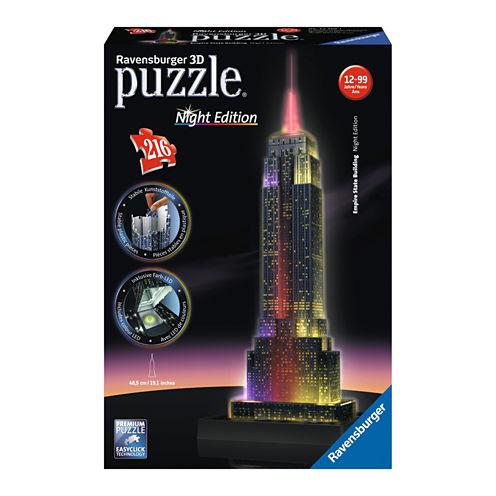 Ravensburger 3D Puzzle - Empire State Building - Night Edition: 216 Pcs