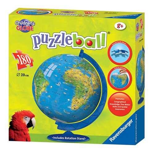 Ravensburger Puzzleball - Children's Globe with Base Stand: 180 Pcs
