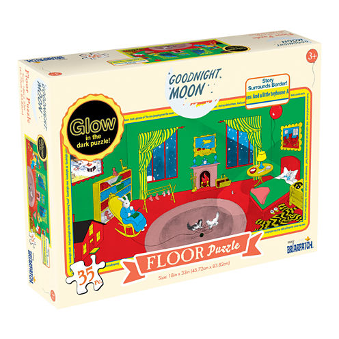 Briarpatch Goodnight Moon Glow in the Dark Floor Puzzle: 35 Pcs