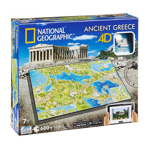 4D Cityscape 4D Cityscape Time Puzzle - National Geographic - Ancient Greece: 600 Pcs