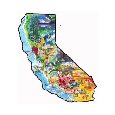 jcpenney.com | Sun & Fun - California Shaped Puzzle: 1000 Pcs