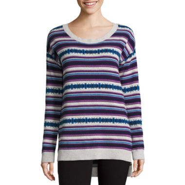 jcpenney.com | Arizona Long Sleeve Easy Tunic Sweater - Juniors