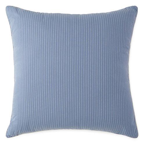 New England Charm Stripe Euro Pillow