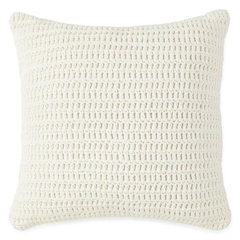 New England Charm Stripe Knit Decorative Pillow