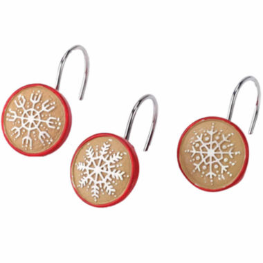 jcpenney.com | Avanti Tall Snowman Shower Curtain Hooks