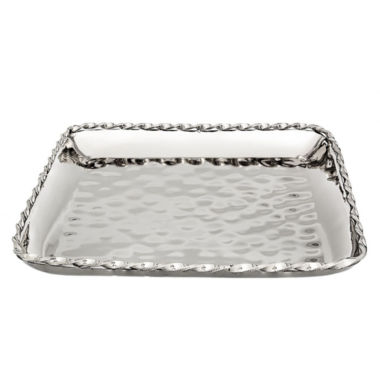 jcpenney.com | Classic Touchhammered stainless steel Square Platter Tray 12""