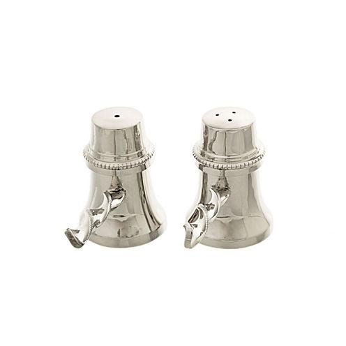 Classic Touch stainless steel Salt & Pepper Shaker Set