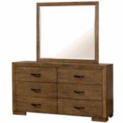 Evan 2-Pc. Rustic Dresser With Mirror
