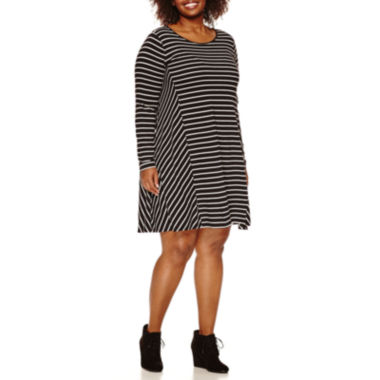 jcpenney.com | Stylus™ Long-Sleeve Swing Dress - Plus