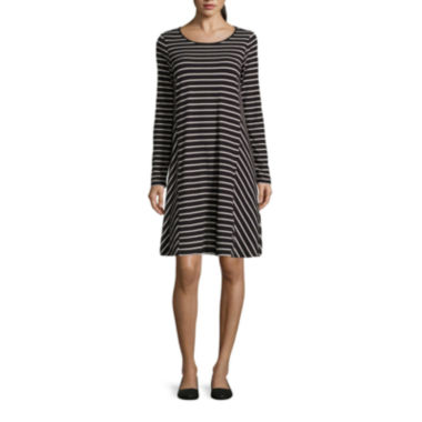 jcpenney.com | Stylus™ Long-Sleeve Swing Dress