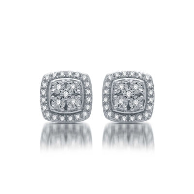 85b2d7e9a LIMITED TIME SPECIAL! 1/10 CT. T.W. Genuine Diamond Stud Earrings in ...