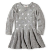 Joe Fresh™ Sequin Sweater Dress - Girls 1t-5t