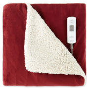 Sunbeam® Heated Sherpa Throw