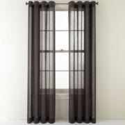 Studio Cotton Linen Grommet-Top Sheer Panel