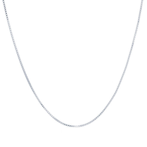 Silver Reflections Silver Over Brass Chain Necklace