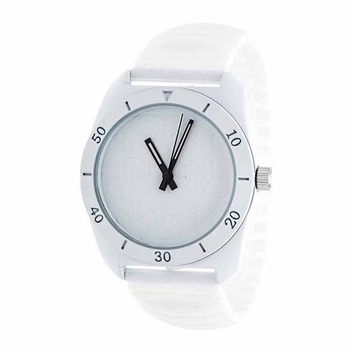 Rbx Unisex White Strap Watch-Rbx001wt