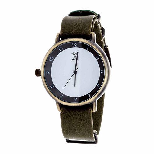 Brooklyn Exchange Mens Green Strap Watch-Nwl378875ag-Ol