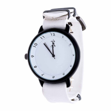 jcpenney.com | Brooklyn Exchange Mens White Strap Watch-Nwl378875bk-Wt