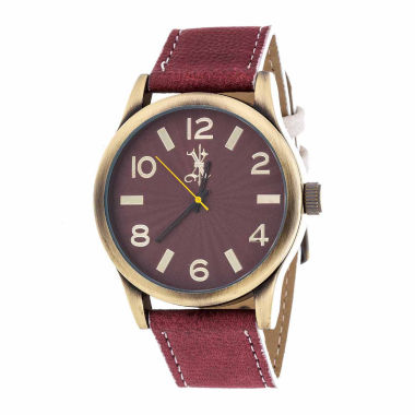 jcpenney.com | Brooklyn Exchange Mens Brown Strap Watch-Nwl398996ag-Re