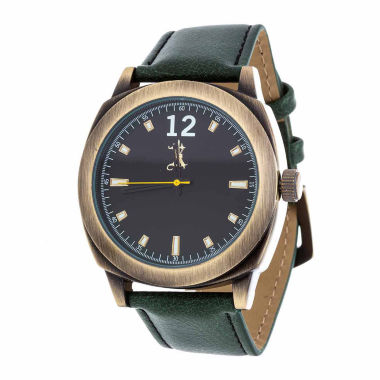 jcpenney.com | Brooklyn Exchange Mens Green Strap Watch-Nwl399010ag-Gr