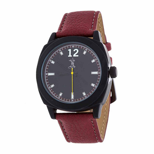 Brooklyn Exchange Mens Red Strap Watch Nwl399010mb-Re
