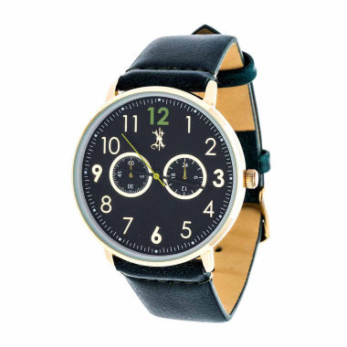 jcpenney.com | Brooklyn Exchange Mens Blue Strap Watch-Nwl400106g-Gr