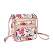Waverly Bird Floral Double Zip Crossbody Bag