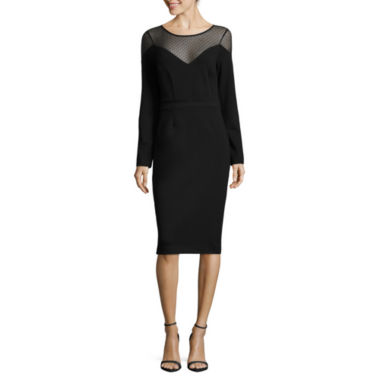 jcpenney.com | Nicole By Nicole Miller 3/4 Sleeve Sheath Dress