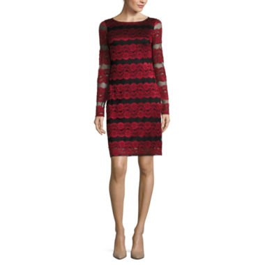 jcpenney.com | Jessica Howard Long Sleeve Sheath Dress