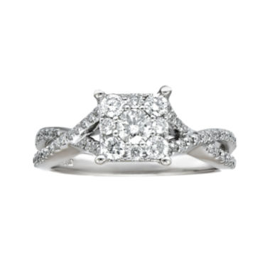 jcpenney.com | LIMITED QUANTITIES! Womens 3/4 CT. T.W. Round White Diamond 14K Gold Engagement Ring